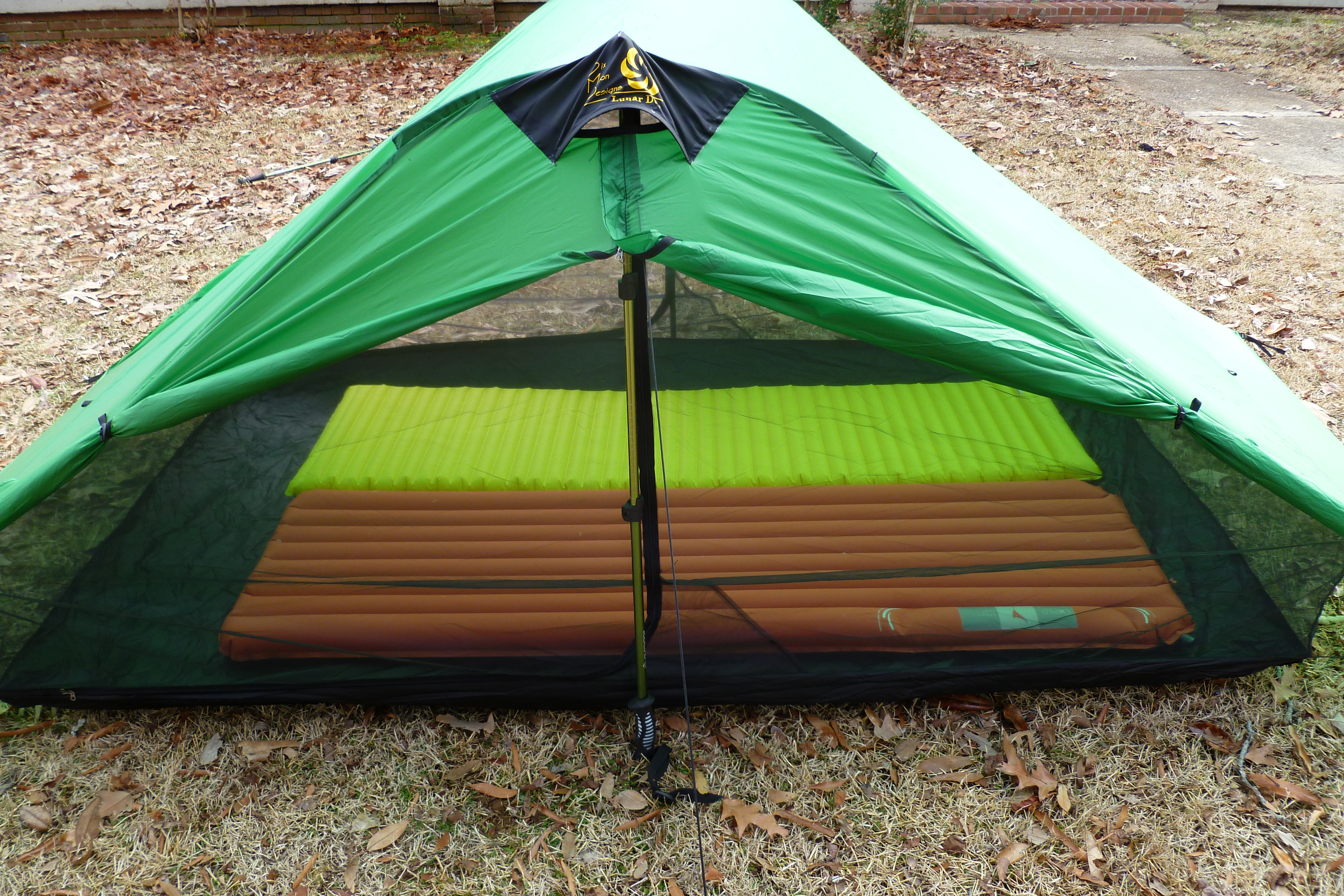 And here is a picture with our sleeping bags on the pads & Six Moon Designs Lunar Duo | Sticku0027s Blog